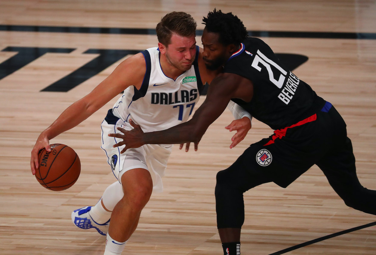 Luka Doncic Tells Patrick Beverley He's 'Too F**king Small' to Guard Him