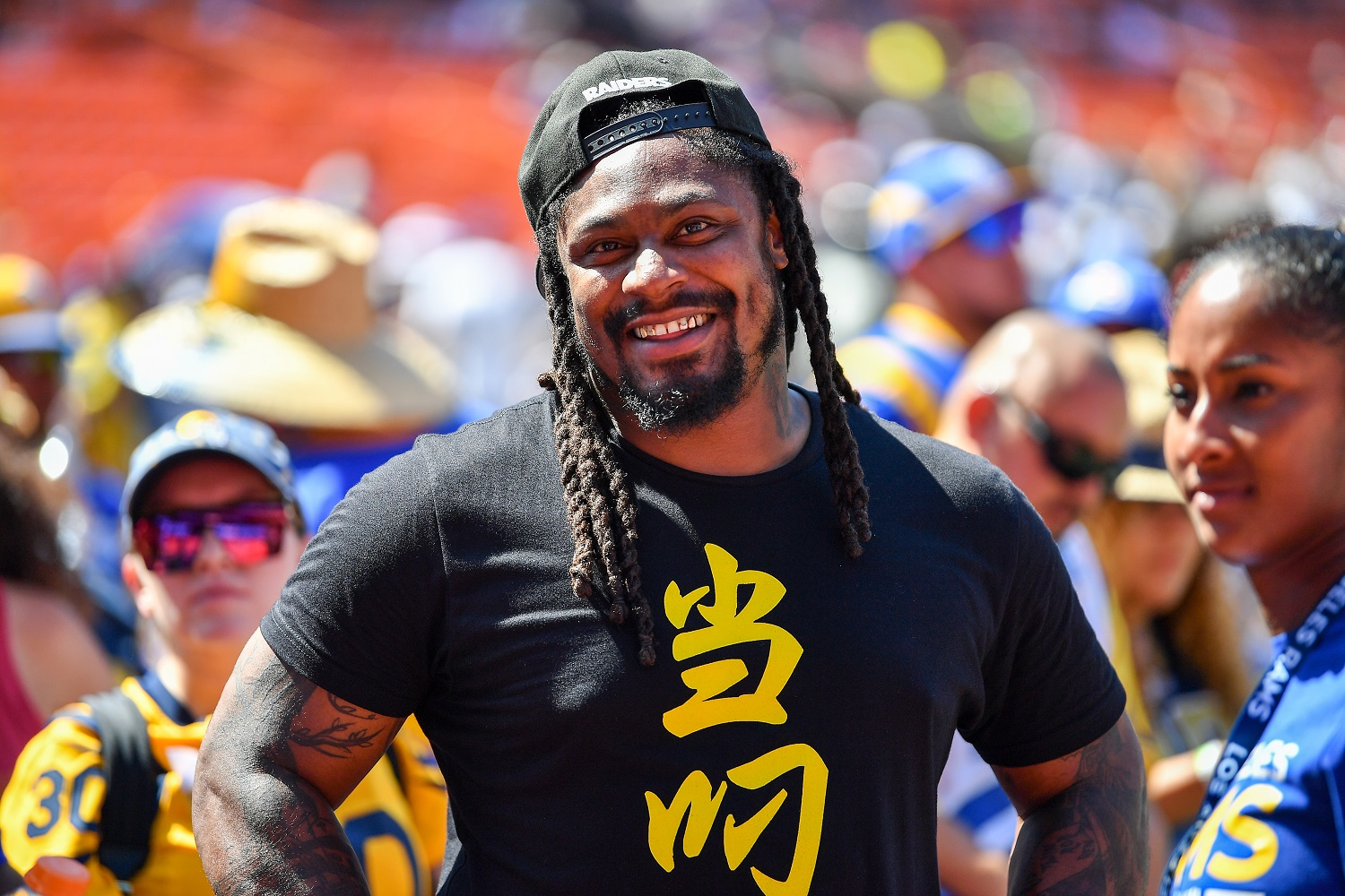 Marshawn Lynch's Idea for Staving off International Panic Is Out of This World