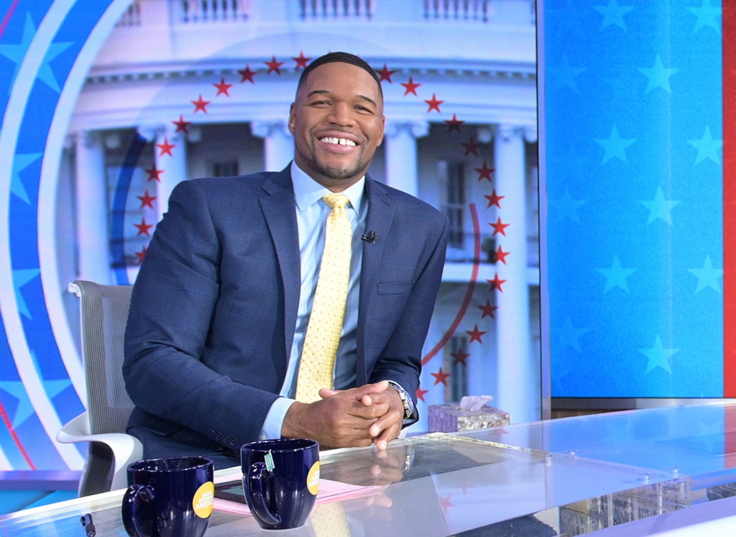 Michael Strahan joined Fox Sports shortly after retiring from the New York Giants and then broke into daytime television. | Paula Lobo/ABC via Getty Images