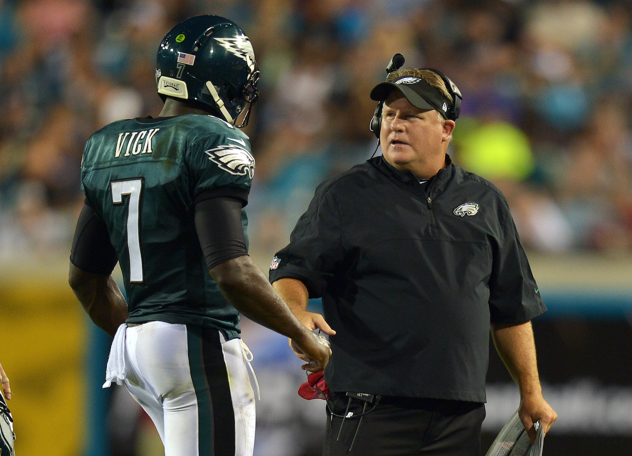 Chip Kelly's NFL coaching career was short and sweet, most likely because his leadership style was so poor it made Michael Vick cry.