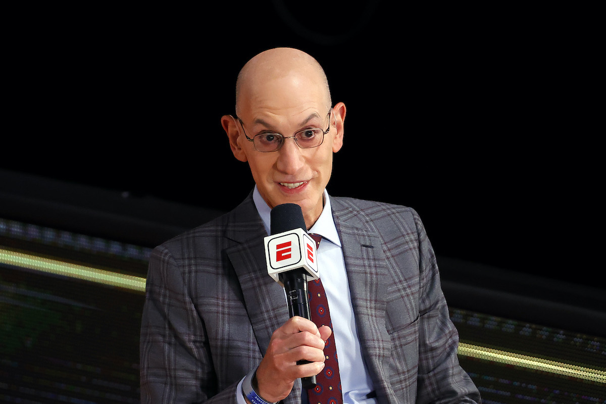 NBA Commissioner Adam Silver speaks before the 2020 NBA Finals