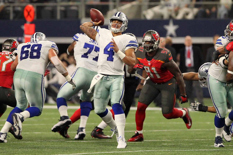 Dak Prescott, a fourth-round NFL draft pick of the Dallas Cowboys in 2016