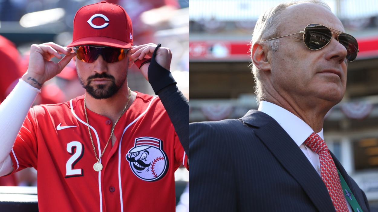 Cincinnati Reds Star Nick Castellanos Used 1 Fan and a Massive Hit to Blast MLB Commissioner Rob Manfred