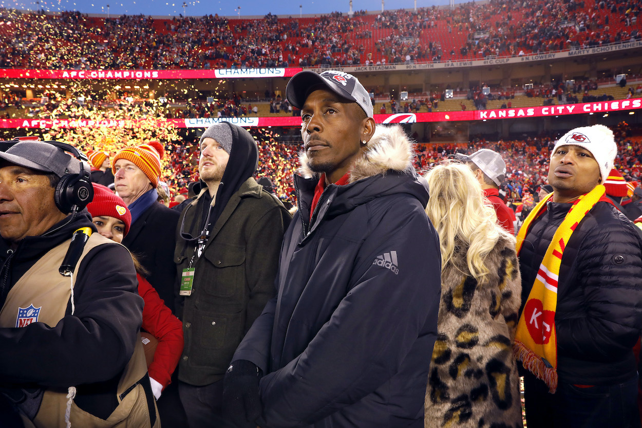 Patrick Mahomes of the Kansas City Chiefs' father Pat Mahomes looks on after the Kansas City Chiefs defeated the Tennessee Titans in 2020