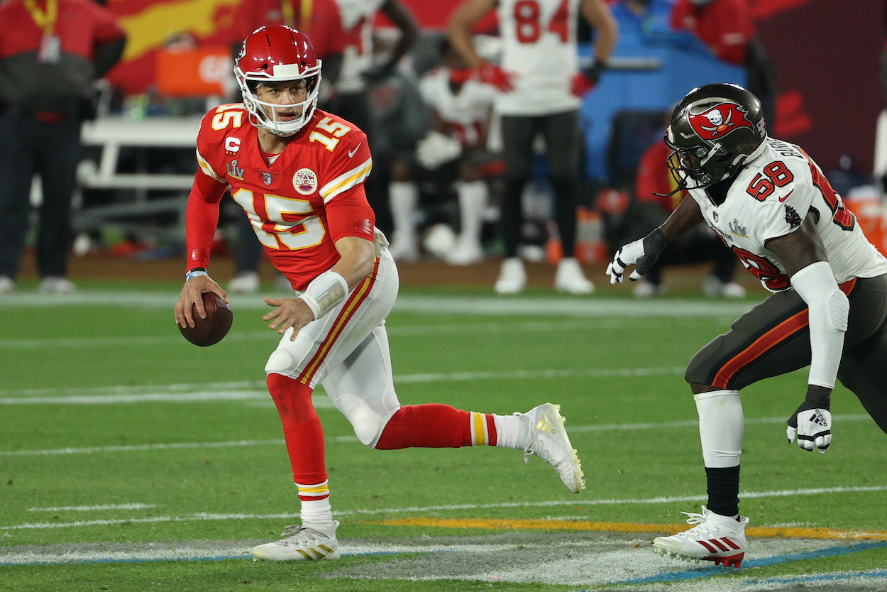 Patrick Mahomes' Former Chiefs Teammate Admits It Was 'Tough to Watch' His QB Run for His Life in Super Bowl 55