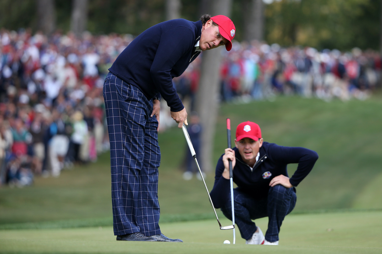 Phil Mickelson loves to gamble on the golf course, and sometimes he uses mind games to get into his competitor's head.