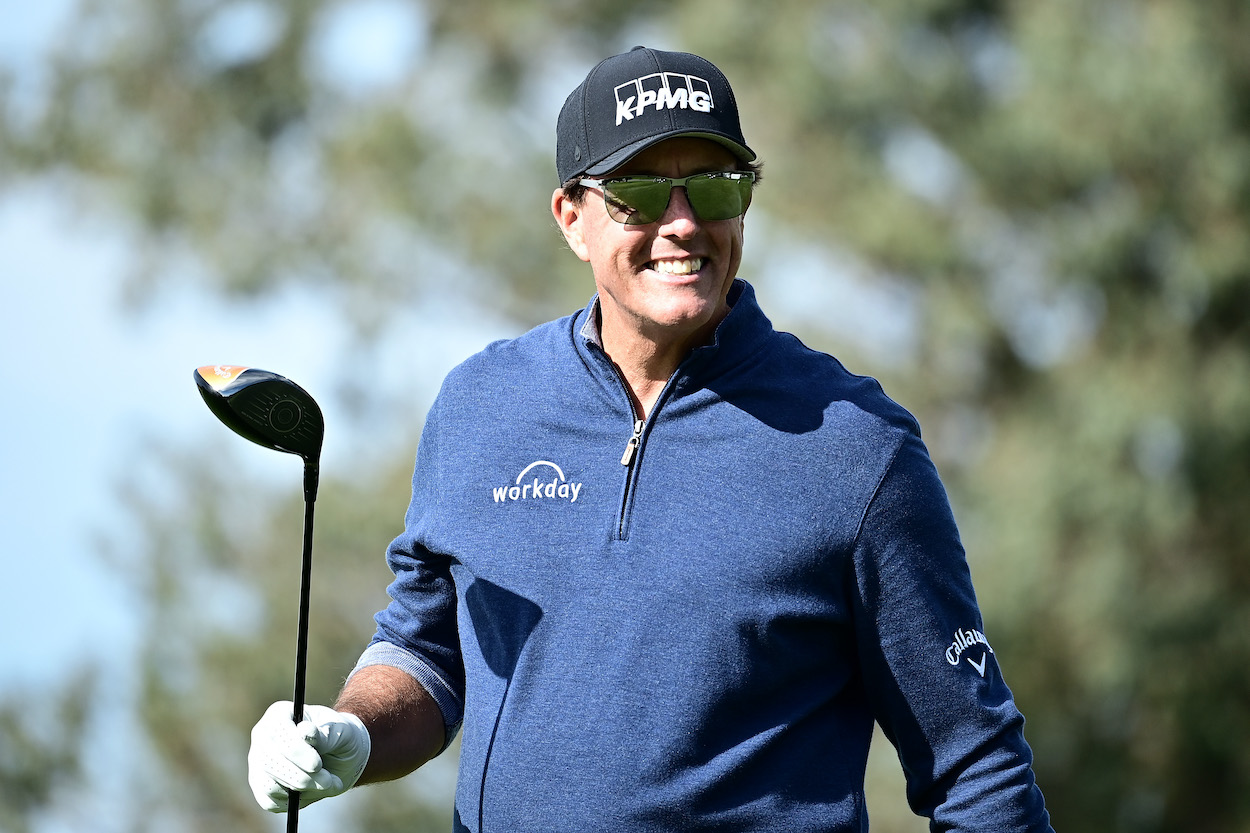 PGA Tour player Webb Simpson didn't want to bet money against Phil Mickelson, but he quickly learned he didn't have a choice.