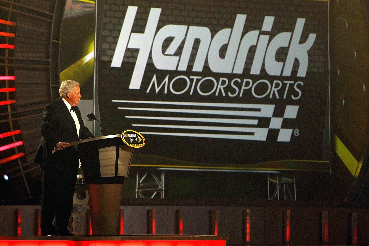 Hendrick Motorsports owner Rick Hendrick speaks during the 2016 NASCAR Sprint Cup Series Awards