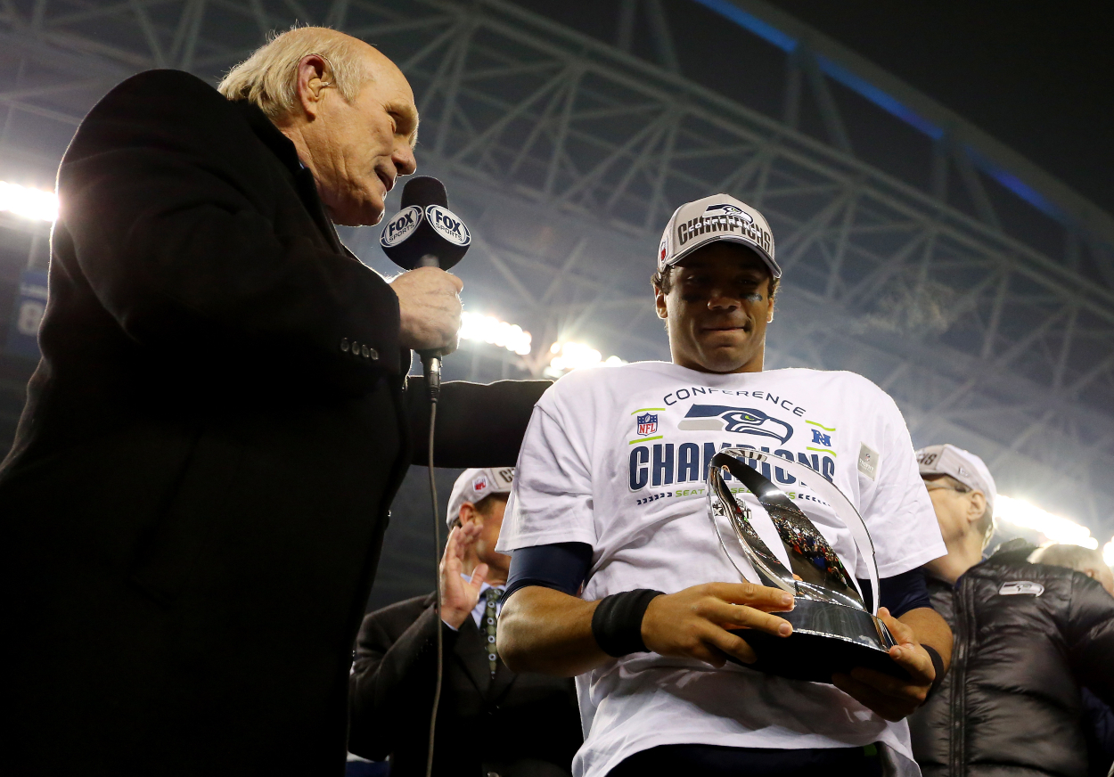 Russell Wilson Becomes the Next Player to Feel Terry Bradshaw's Wrath: 'Shut Your Mouth, Play Quarterback'
