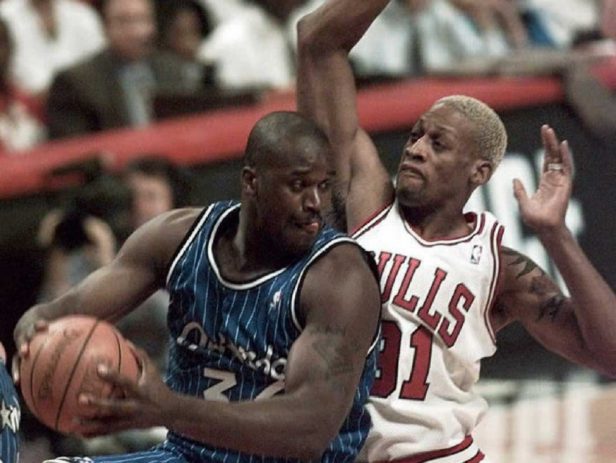 The 1996 Eastern Conference Finals Saw Shaquille O'Neal Threaten to Put Dennis Rodman on a Stretcher While 'The Worm' Predicted Shaq's Future