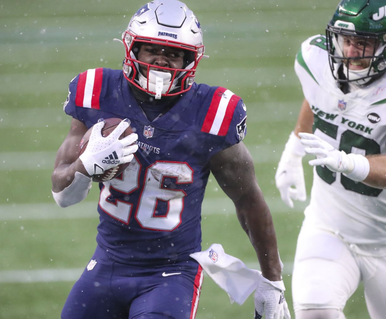 New England Patriots running back Sony Michel during the 2020 season.