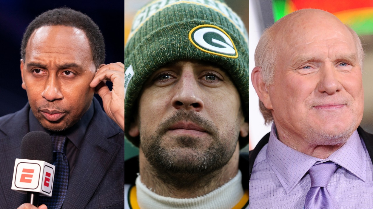 Stephen A. Smith Follows Terry Bradshaw's Lead, Says Aaron Rodgers Has Been 'Passive-Aggressive' and 'Weak'