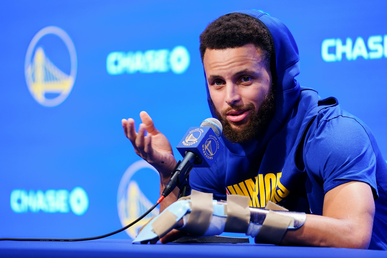 Steph Curry Turned Into a Meme When Asked About Playing the Lakers in the NBA Play-In Tournament