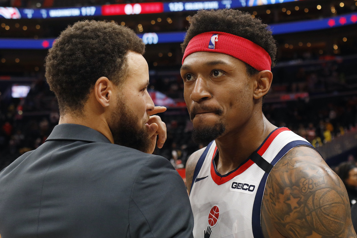 Bradley Beal Gets Defensive and Goes on Twitter Rant After Stephen Curry's Teammate Calls Him Out About Scoring Title Race