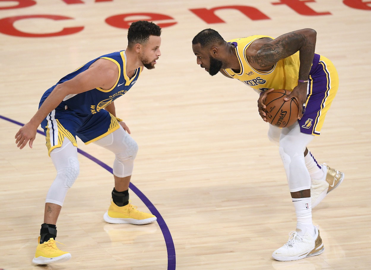 LeBron James says Stephen Curry should be the NBA MVP just days before the two will meet in the NBA Play-In Tournament.
