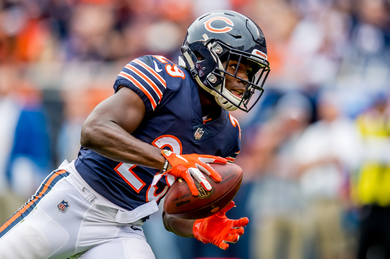 Chicago Bears running back Tarik Cohen in a game against the Buccaneers.