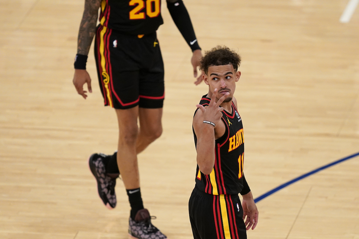 Trae Young did his best Reggie Miller impression by shushing Madison Square Garden in playoff win over the New York Knicks.