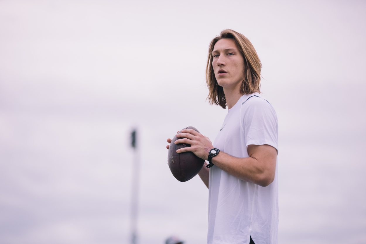 Trevor Lawrence, who recently went to the Jaguars in the 2021 NFL draft.