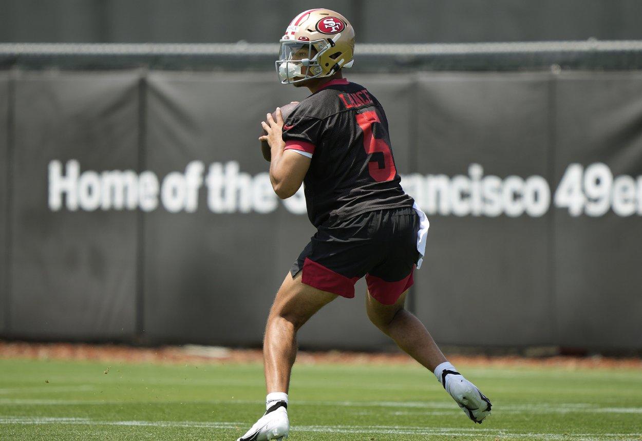 San Francisco 49ers quarterback Trey Lance in May 2021.