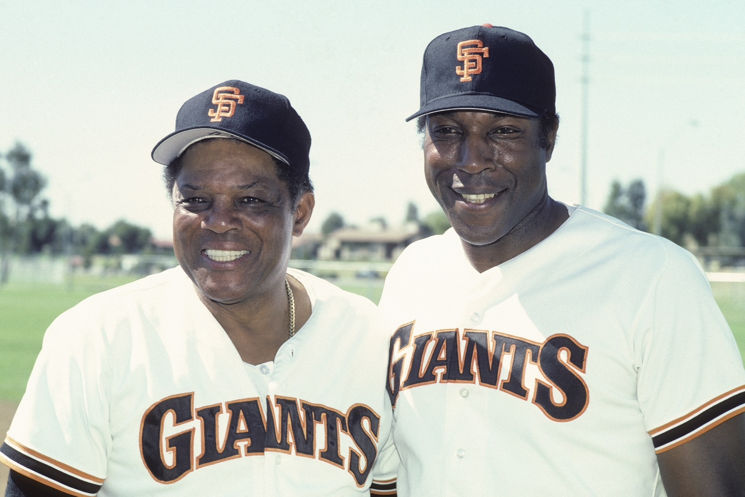 Willie Mays and Willie McCovey were San Francisco Giants teammates for more than a decade. Both were elected to the Baseball Hall of Fame. | Diamond Images/Getty Images