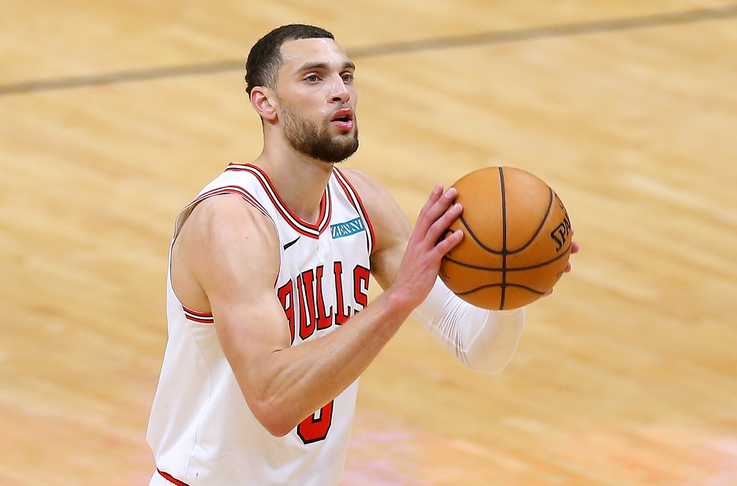 The Chicago Bulls showed improvement this year with a huge assist from seventh-year pro Zach LaVine, whose numbers were up across the board.   Jonathan Bachman/Getty Images
