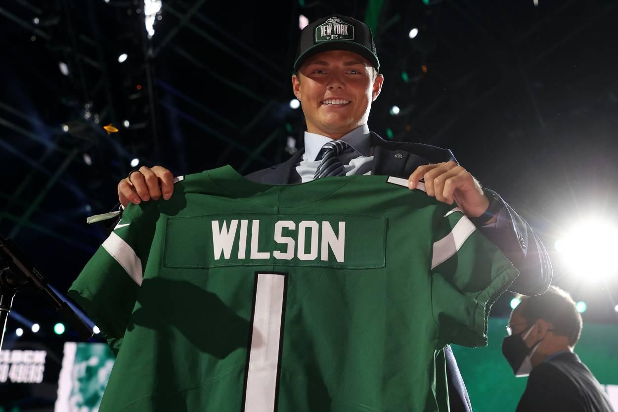New York Jets quarterback Zach Wilson.