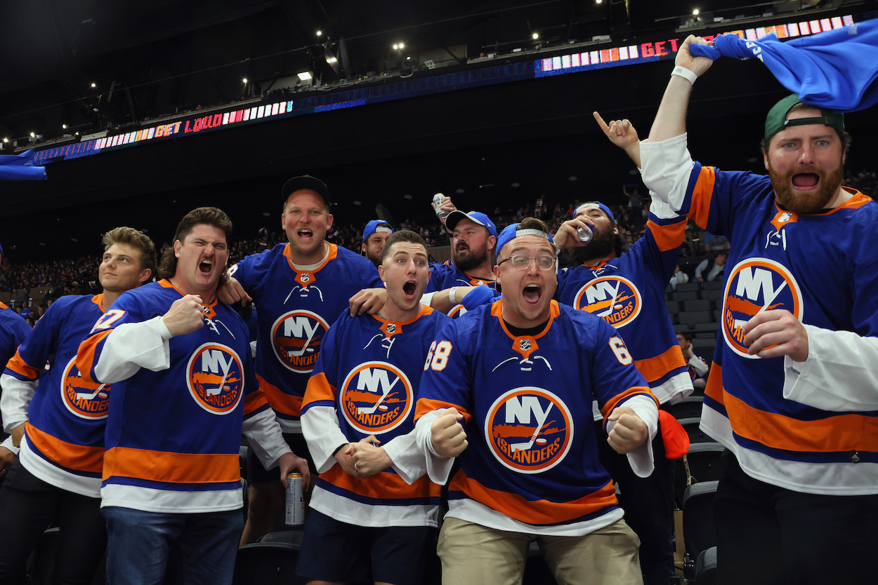 Zach Wilson and His New York Jets Linemen Get Rowdy at New York Islanders Playoff Game