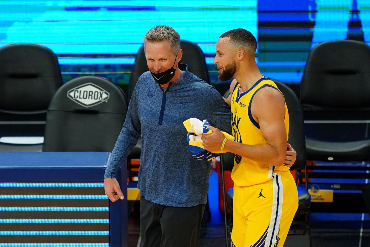 Golden State Warriors coach Steve Kerr and superstar Stephen Curry