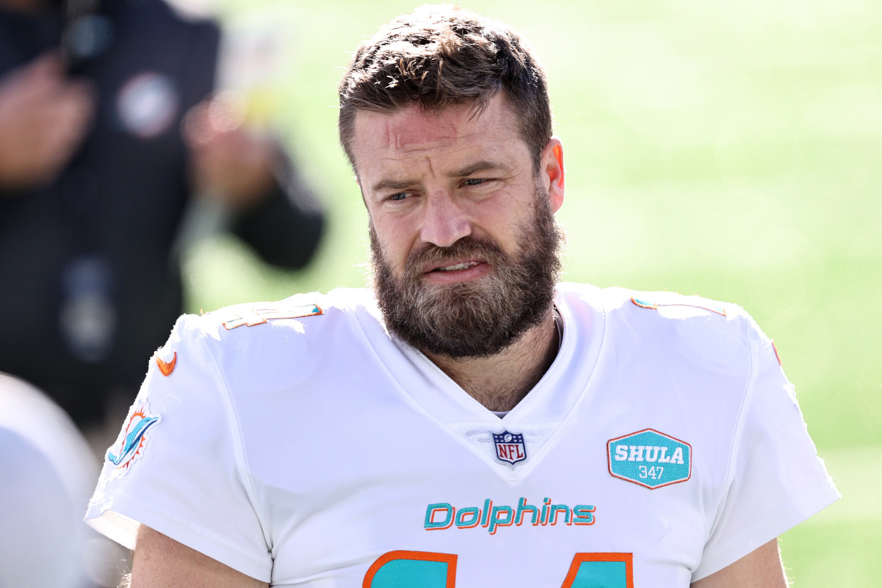 Ryan Fitzpatrick left the Miami Dolphins to sign with the Washington Football Team