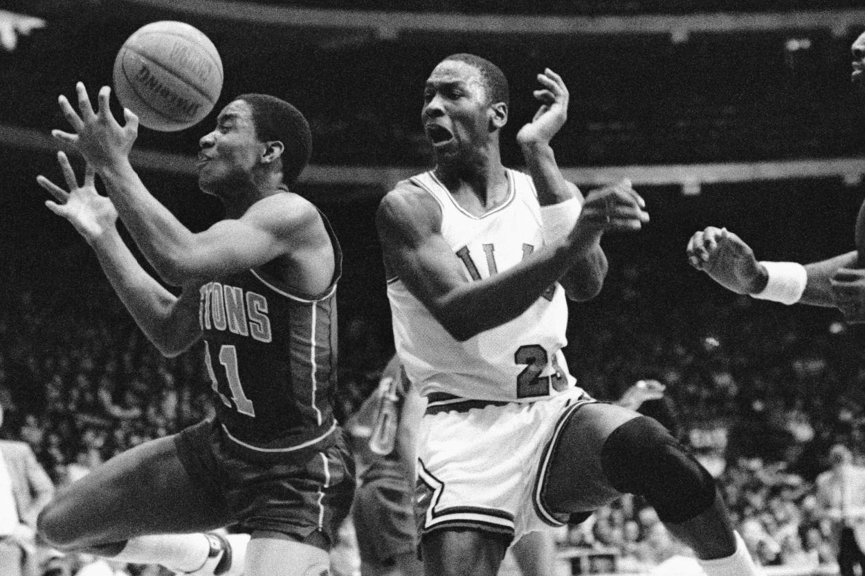 Isiah Thomas and Michael Jordan