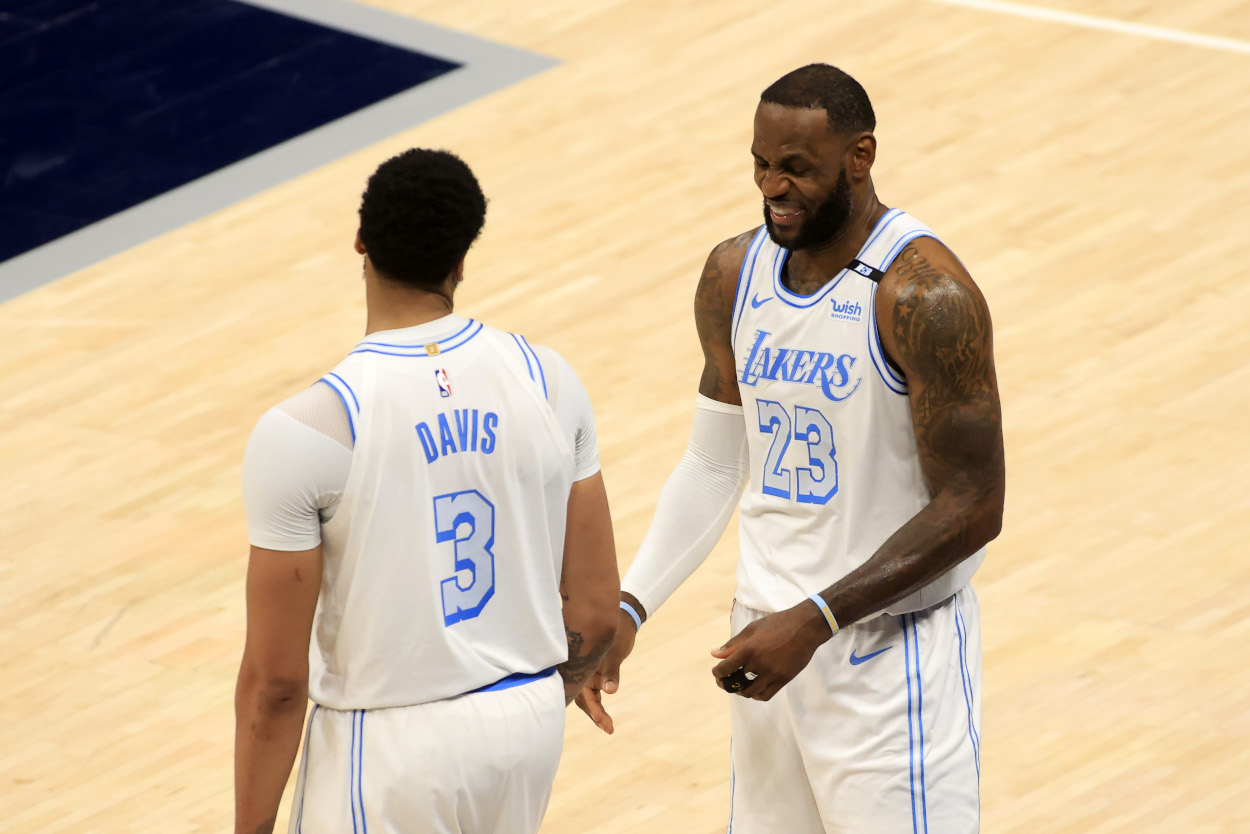 Anthony Davis and LeBron James of the LA Lakers