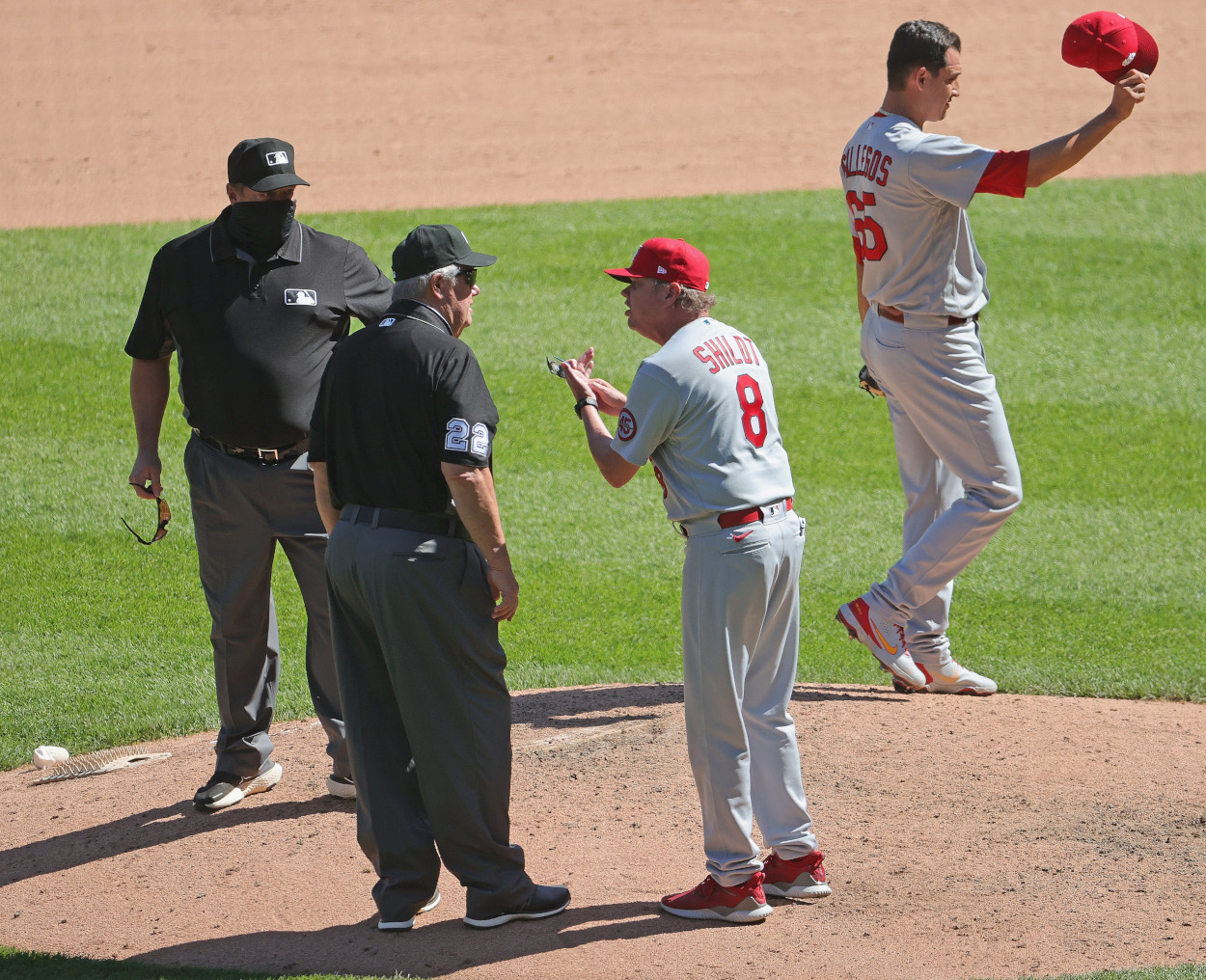Umpire Joe West Makes Himself the Show Again and St. Louis Cardinals Manager Mike Shildt Is Having None of It