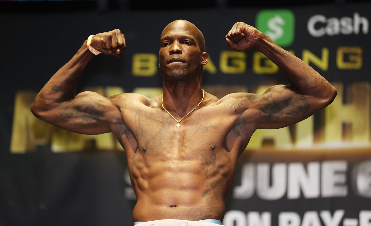 Chad Johnson weighs in ahead of his fight with Brian Maxwell