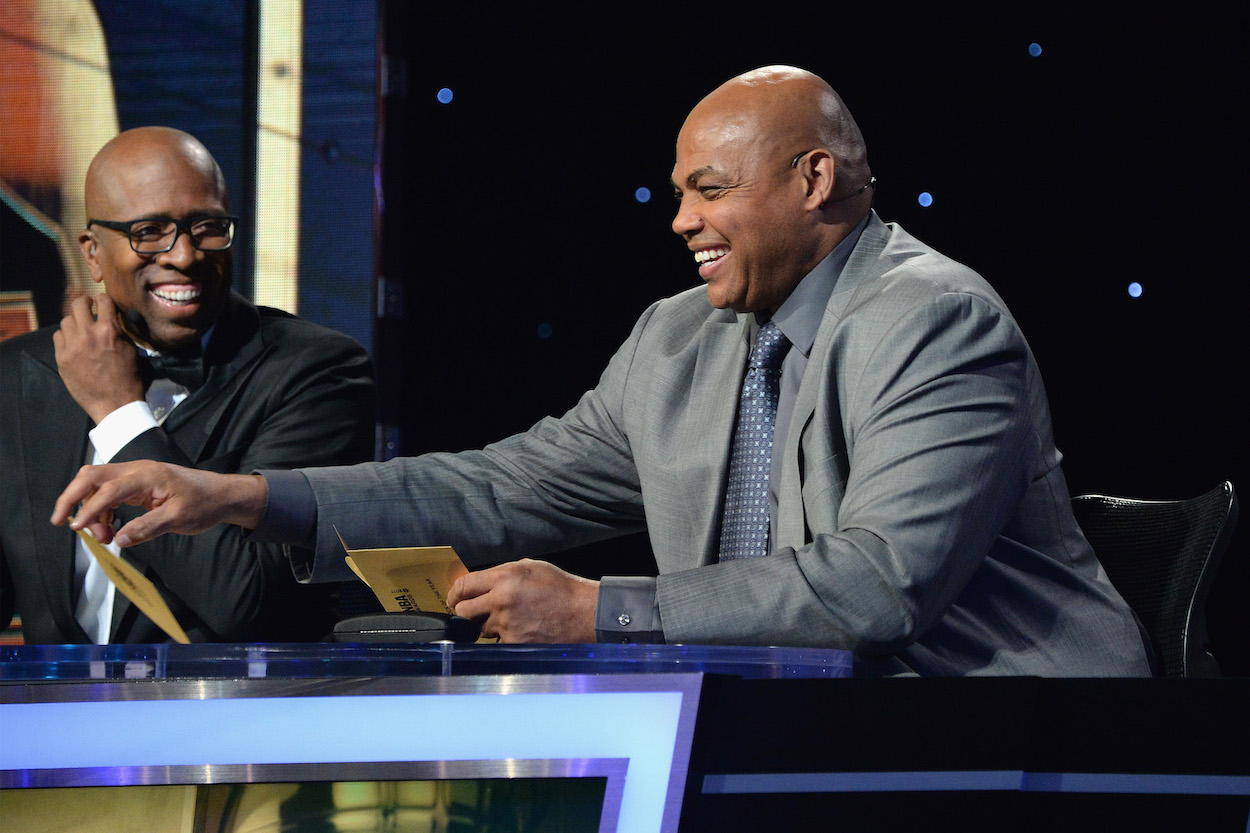 Charles Barkley Terrified When Circus Performer Surprises Him With Giant Burmese Python During TNT Broadcast
