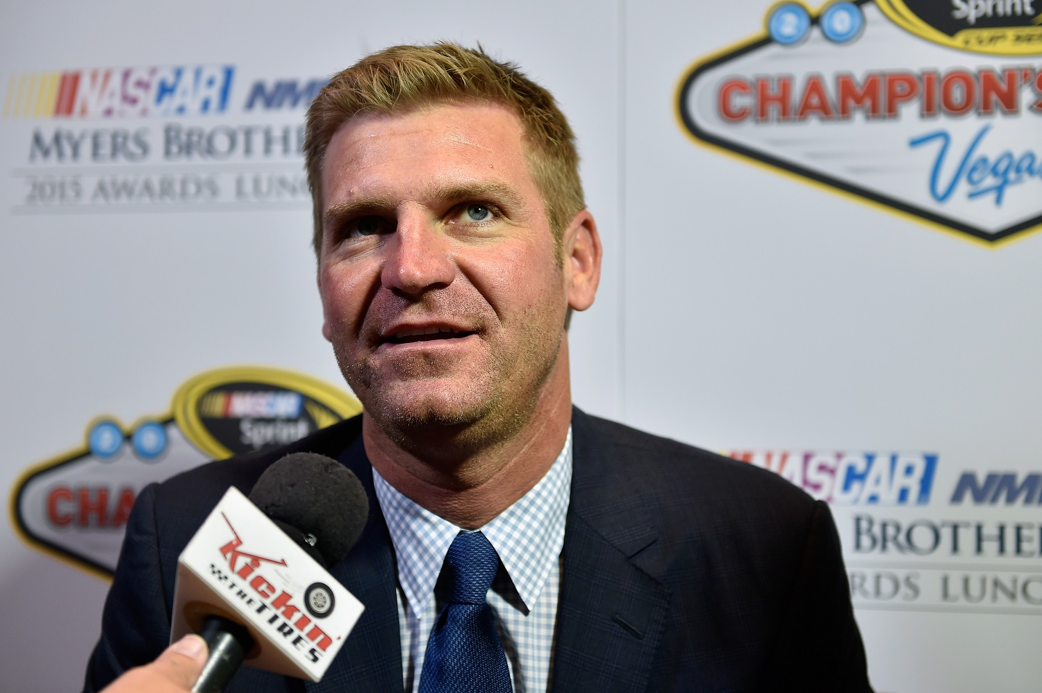 Clint Bowyer's first season in the Fox Sports broadcast booth for the NASCAR Cup Series was a success. | David Becker/NASCAR via Getty Images