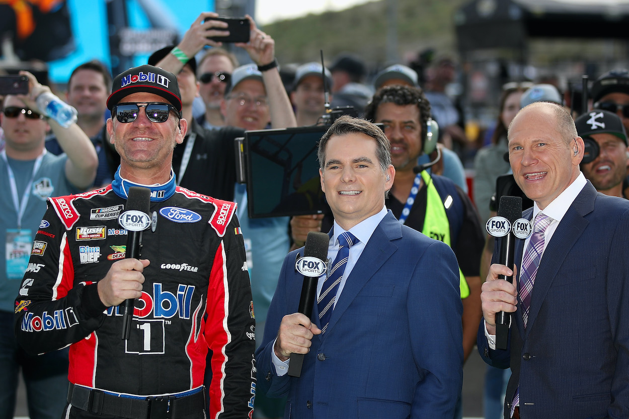 See how Jeff Gordon is reportedly considering walking away from the NASCAR Fox Sports booth to focus his time on Hendricks Motorsports.