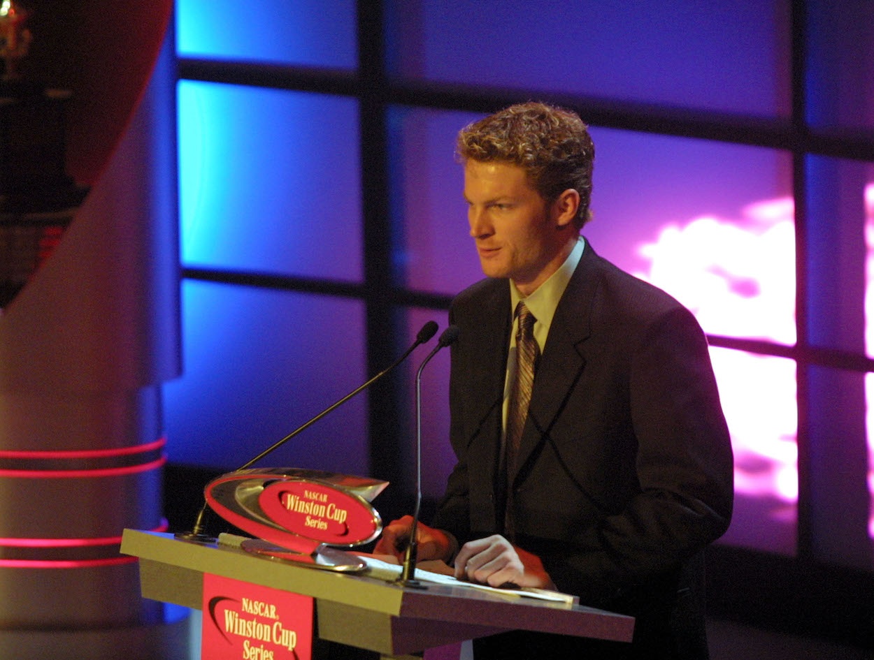 Dale Earnhardt Jr. Confesses on Podcast How He Was Drunk and Just Returned From Partying When He Begrudgingly Accepted Most Popular Driver Award on Father's Behalf in 2001