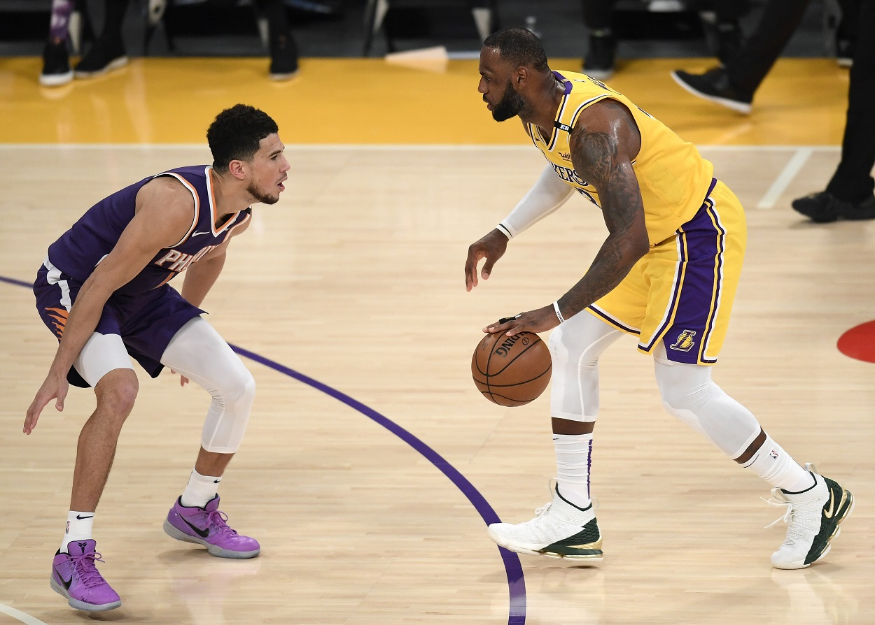 Devin Booker Owned LeBron James and the Lakers in the NBA Playoffs and Now Owns a Unique Piece of LeBron's Legacy