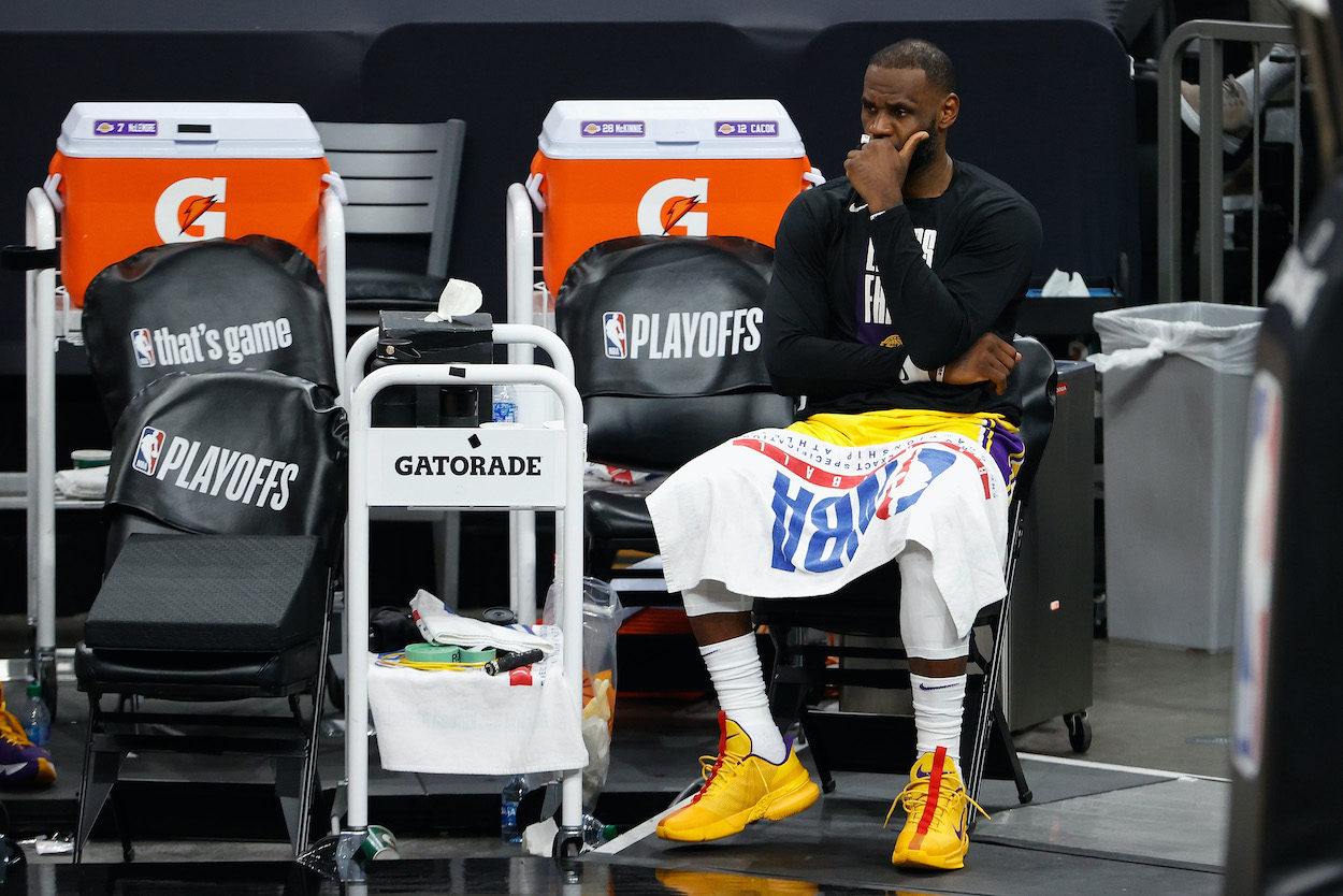 See whether LeBron James has ever lost in the first round of the NBA playoffs, and, if so, how many times it's happened.