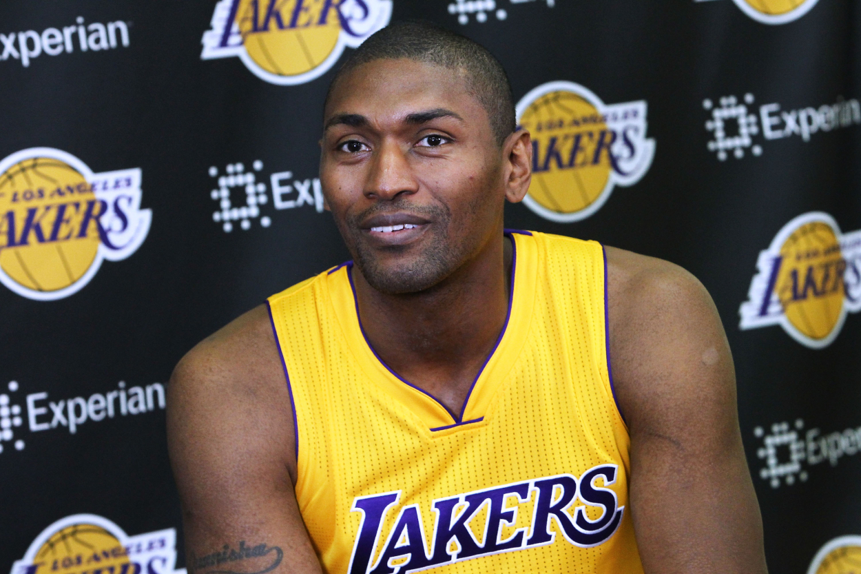 Former NBA star Metta World Peace, who had a history with fans in his career.