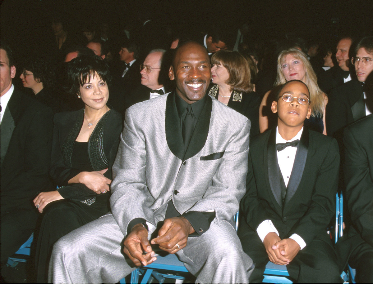 Michael Jordan and his family sit in the audience during the 2000 ESPY Awards