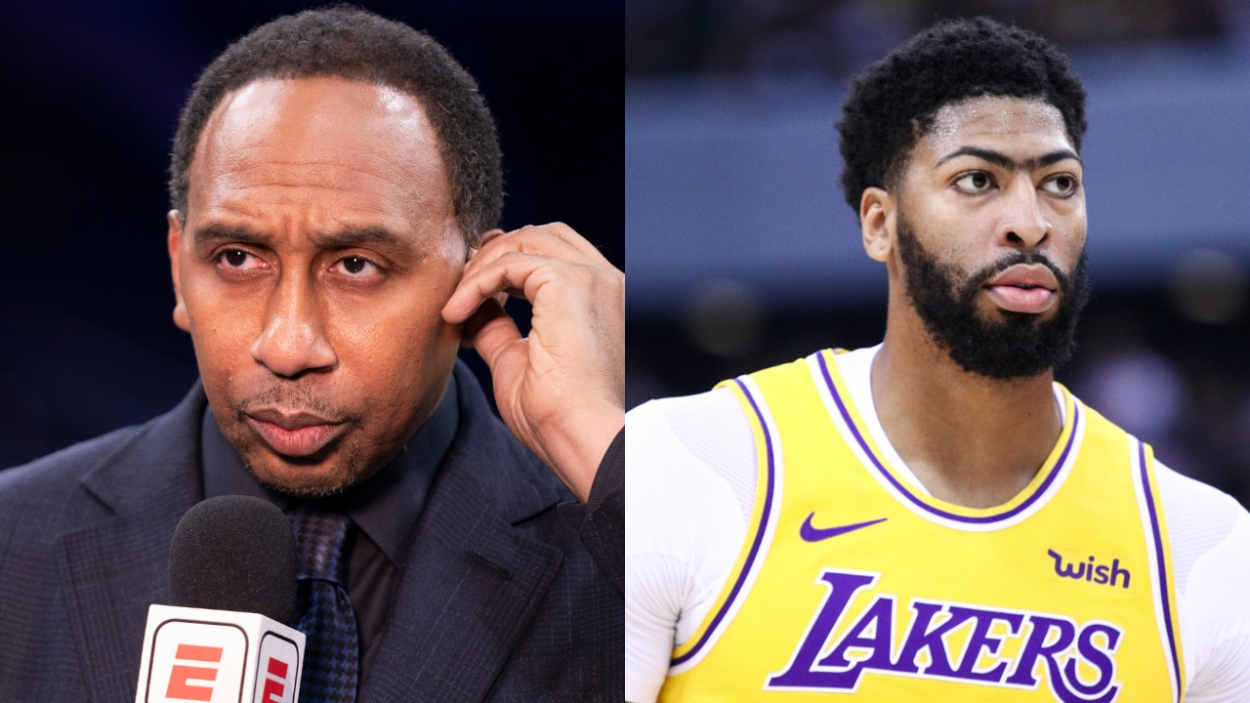 ESPN analyst Stephen A. Smith and Los Angeles Lakers big man Anthony Davis.