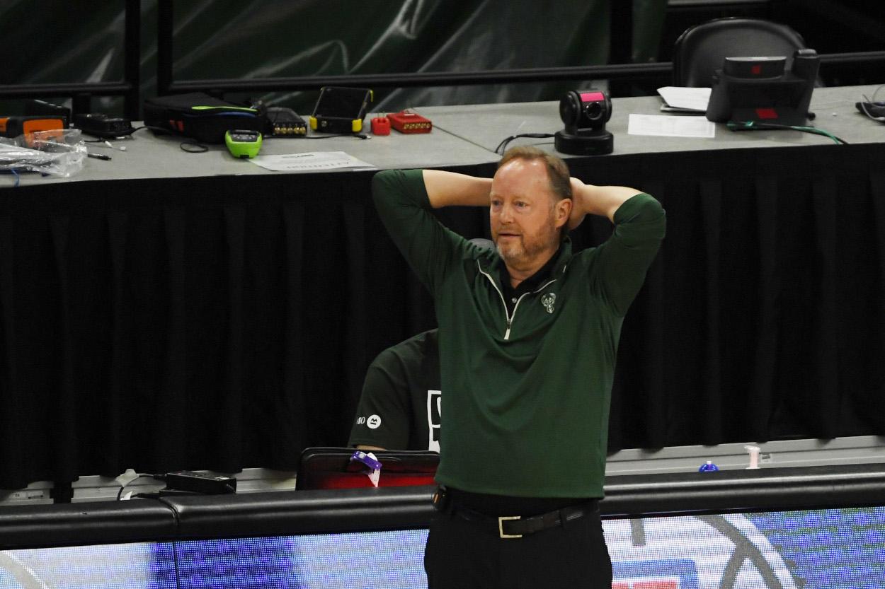 Milwaukee Bucks coach Mike Budenholzer