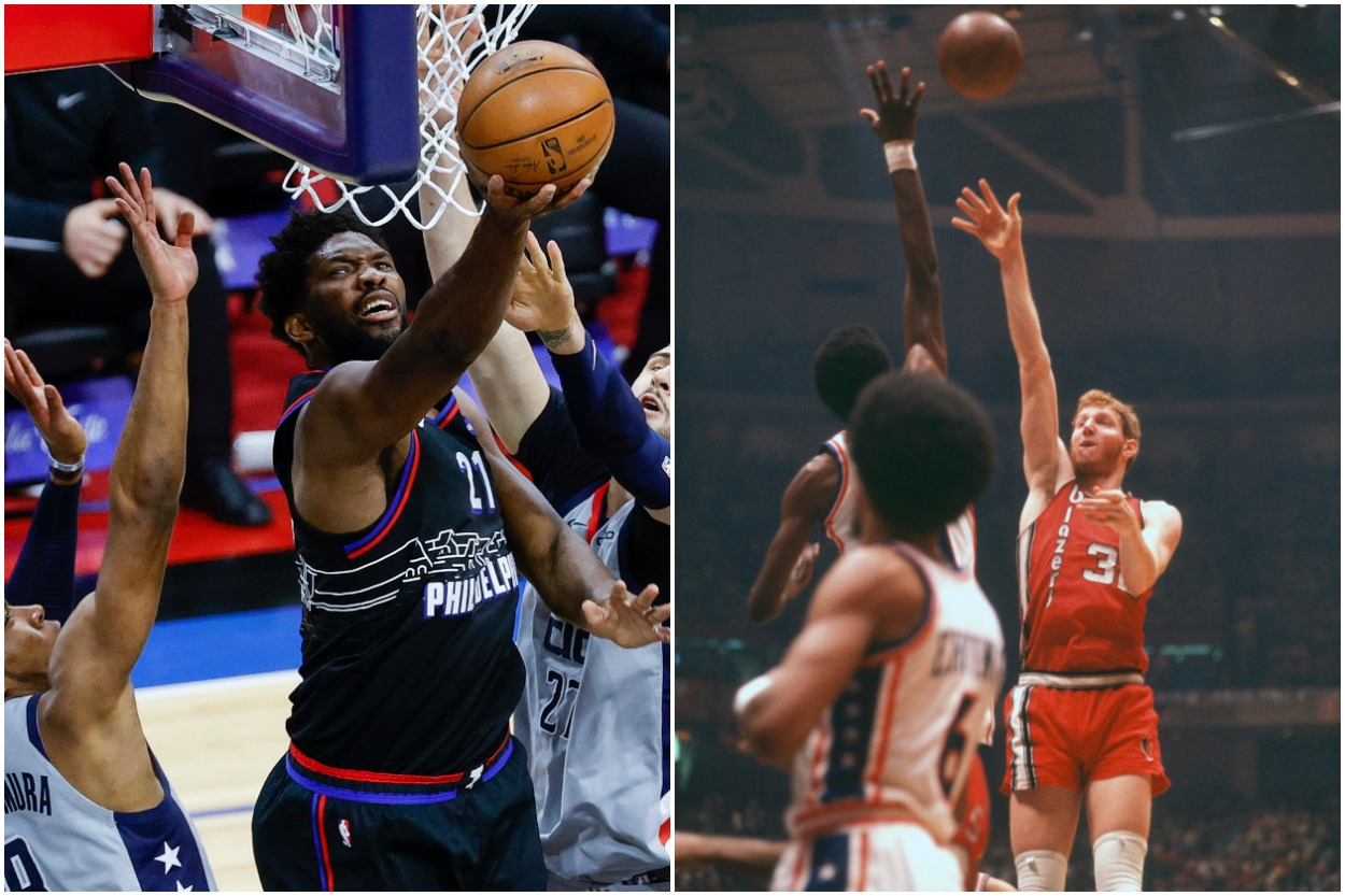 Joel Embiid Is Following the Same Career Path as Hall of Fame Center Bill Walton