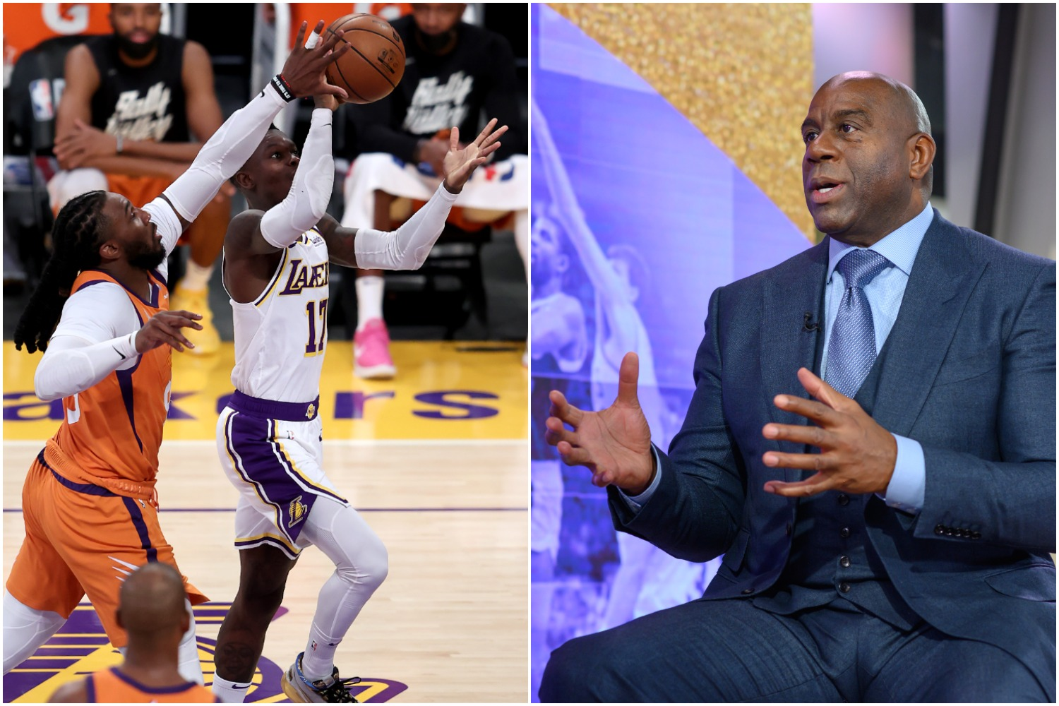 Magic Johnson Blasts Lakers' Dennis Schroder in Brutally Honest Radio Segment: 'He Failed in This Series'