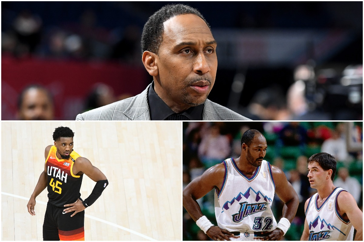 Stephen A. Smith Took Massive Shot at Karl Malone and John Stockton While Praising Donovan Mitchell: 'I Just Said It and I Ain't Stuttering'