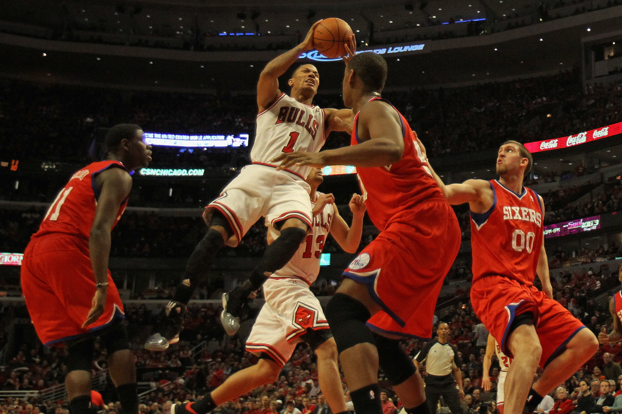 Derrick Rose's career changed due to an injury in the NBA Playoffs