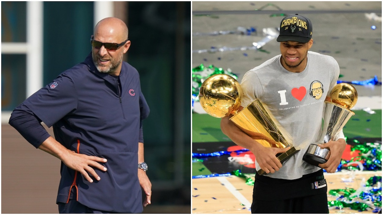 Matt Nagy Reveals an Inspirational Giannis Antetokounmpo Quote is Helping Him Deal With the Justin Fields Situation - Sportscast