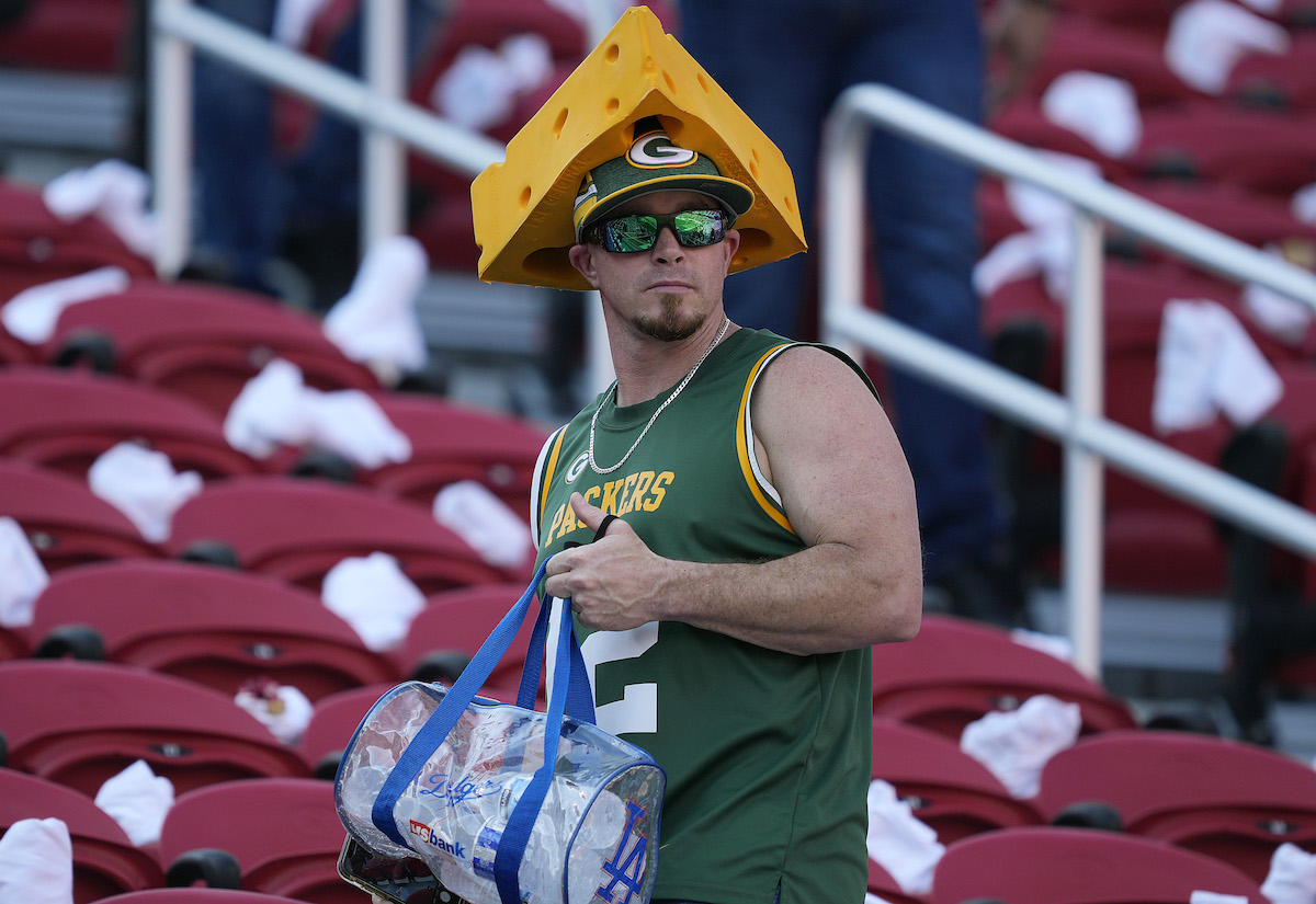 A fans shows what to bring to NFL stadium