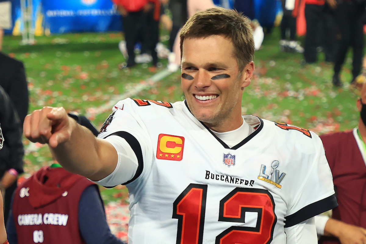 Tom Brady #12 of the Tampa Bay Buccaneers.
